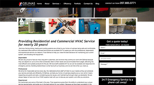 gelinas hvac website